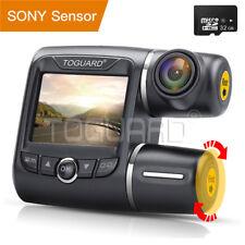 "2"" Dashcam Car Camera FHD 1080P Dual Lens 340° Front Rear View DVR Recorder+32GB"