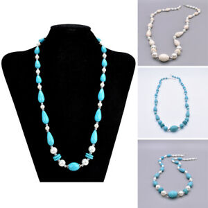 Boho Ethnic Women Turquoise Beads Collar Choker Necklace Fashion Jewelry Gifts