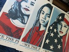 Shepard Fairey Obey Giant WE THE PEOPLE Art Print Poster SET Of 3 Prints 24X36