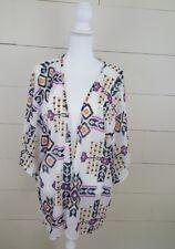 Women's Cardigan Kimono Aztec Beach Boho Festival Small