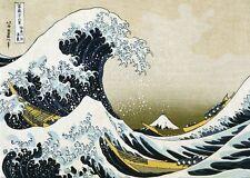 Hokusai La grande onda giapponese Art GIGANTE POSTER DA PARETE 100CM X 50CM