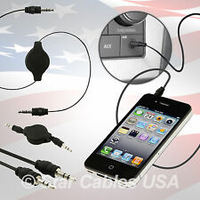 3 AUX Auxiliary Cable Cord 3.5mm 3.5 mm Black 5 4 3G Mp3 Extension Out Car 53595