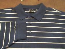 FANTASTIC JOS A BANK TRAVELER'S COLLECTION BLUE & WHITE JERSEY SHIRT SIZE XL