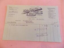 RARE 1923 Mabie Todd SWAN Fountain Pen NYC New York City Billhead NICE!!!