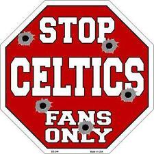 NBA Basketball Boston Celtics Metal Stop Sign Man Cave Garage Shop Barn BS-244