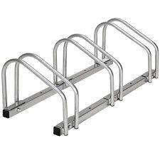 Rastrelliera portabici per 3 biciclette bicicletta bici supporto pavimento paret