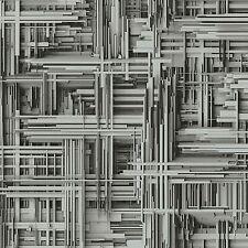 Vliestapete Design modern grau silber Tapeten P+S Times 42098-30 (2,80€/1qm)