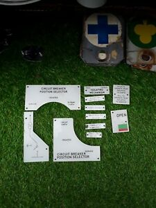 Plastic Collectable Signs Used In Electricity Industry 1