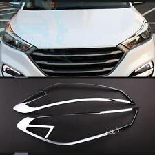 Auto Parts Chrome Headlight Front Light Cover Trims For Hyundai Tucson 2015-2017