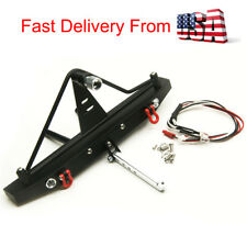 Metal Rear Bumper wIth LED Kit For 1/10 RC Axial SCX10 II 90046 Crawler-US