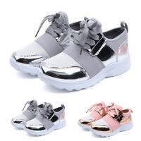 Toddler Teen Baby Boy Girl Kids Mesh Bling Casual Sports Running Shoes Sneakers