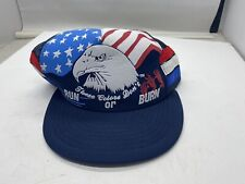 New listing Vintage These Colors Don't Run Or Burn Patriotic Snapback Trucker Cap Hat Nos