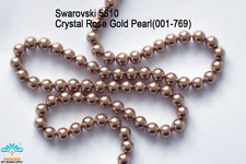 50 Beads Swarovski #5810 Crystal Rose Gold Pearl 001-769