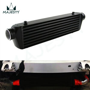 """Universal Bar&Plate Front Mount Intercooler 550*140*64 FMIC 2.5"""" In/Outlet Black"""