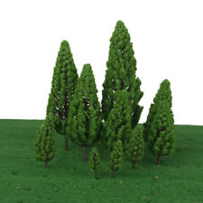 10pcs Green Model Trees Train Architecture Forest Scenery Layout 1:100-1:500