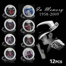 WR The King of Pop Michael Jackson Colored Silver Coin MJ Souvenir Gifts