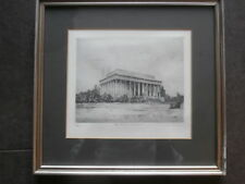 Limitierte original ETCHING Radierung Lincoln Memorial Washington DC DON SWANN