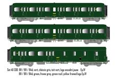 Ls Models 40330 3tlg.Set Express Nord Vert B11/B11/B4d SNCF Epoque IV Dc
