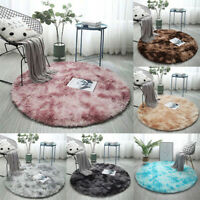 Round Shaped Soft Area Rugs Plush Carpet Home Living Room/Bedroom Rug Fur Mats