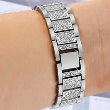 Stainless Steel Diamond Band 38/40mm Bling Strap Apple Watch Series 4 321 Silver