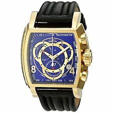Invicta Men's 20243 S1 Rally 18k Gold Ion-Plated Watch with Leather Band