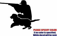 """Hunter with Dog #03 Graphic Die Cut decal sticker Car Truck Boat Window 10"""""""