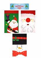 3 Large Santa Father Christmas Xmas Eve Sack Gift Bag Stocking 68cm x 47cm.