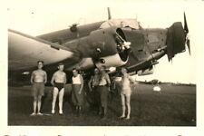 Foto, Halbnackt mit einer Ju 52 in Ploiești, Rumänien (N)20736