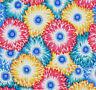 Floating World Chrysanthemum Zest  Cotton Quilt Fabric Brights BFab