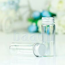 New 10pcs 14ml 22x60mm Clear Glass Bottles Sample Vials with Aluminium cap MA