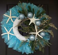 "24"" Hand made unique Tybee Island Christmas wreath - Christmas starfish!"