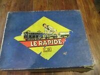 L.R Louis Roussy le rapide jouet ancien échelle o coffret locomotive et voiture