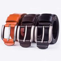 Vogue Mens Leather Belt Casual Pin Buckle Waist Waistband Belts Strap Adjustable