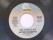 """MELISSA MANCHESTER """"COME IN FROM THE RAIN / HEY RICKY (YOU'RE A LOW-DOWN...."""" 45"""