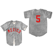 Mexico City Baseball Diablos Red Devils Stitch Size Colors Size Free Shipping