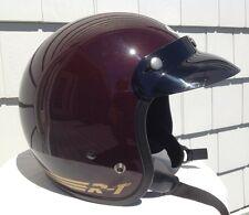 Bell RT Helmet, With Visor, Vintage, Rare. Maroon. Size 7.5 (60 cm)