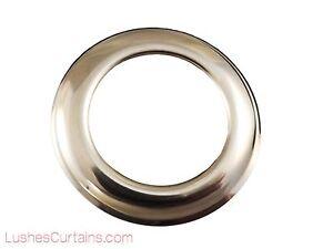 """Curtain Drapery Chrome Metal Grommets Washer #12 Inner Diameter 1-9/16"""" Pack of"""