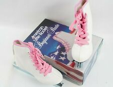 American Little Rocket Girls sz 9 Beginner Skate style 380 White with Pink