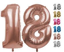 Zahlenballon Nummer 18 rose gold 86 cm Ballon Folienballon Geburtstag xxl Zahl