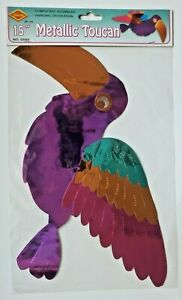 "1990's Metallic Toucan Wall Hanging 12"" Purple New In Packaging"