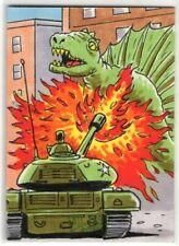2015 TOPPS MARS ATTACKS OCCUPATION DINOSAURS ATTACK Russ Maheras Sketch Card SP