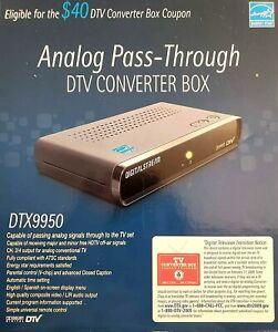 NHENS DTX9950 Digital Stream Analog Pass-Through DTV Converter Box With Remote