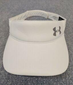 Under Armour Women's Sun Golf Visor Bright White Adjustable