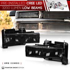 !BUILT-IN LED LOW BEAM! 88-98 Chevy GMC CK Silverado Suburban Sierra Headlights