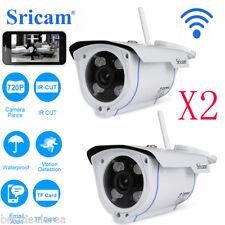 2X Sricam 720P CCTV WIFI TELECAMERA IP CAMERA CAM IR WIRELESS VISIONE NOTTURNA