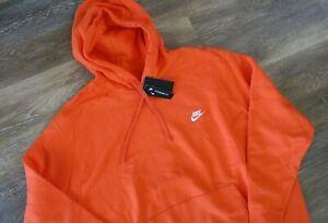 NWT Nike Men's Big & Tall Sportswear Hoodie Sweatshirt Orange 4XL
