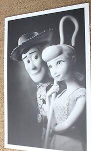 Disney Toy Story 4 Woody & Bo Peep B&W Litho Limited Edition to 500 PRINT PHOTO