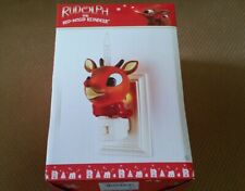 Rudolph the Red-Nosed Reindeer Bubble Night Light by Roman 2012 New In Box