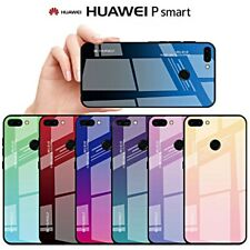 COVER per Huawei P Smart CUSTODIA Gradient Glass Case con RETRO VETRO TEMPERATO