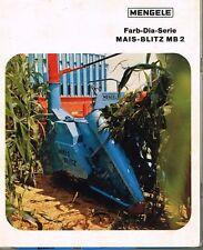 Mengele Mais- Blitz MB 2, orig. Farb- Dia- Serie mit Beschreibung